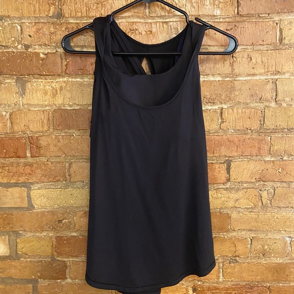 Size 6 lululemon tank top with built in sports bra